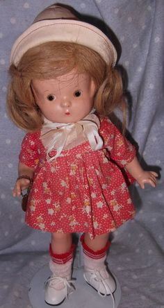 Effanbee Patsy Jr. in factory dress Composition Doll, All Original