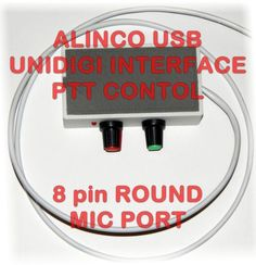 Alinco DX-77 Digi Interface with PTT Control -  PSK31, PSK, RTTY, SSTV, NBEMS, JT-65, WeatherFax, Echolink and other digimodes. Compatible with ALINCO DX-77 and variations of this model (transceiver not included) and all other radios with same 8 pin ROUND connector and pin assignment as shown to the picture gallery. NOTICE: Check your manual to be sure that MIC connector supports to pin 6 AF (Audio) output.