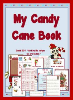 """All About The Candy Cane A Printable Packet Isaiah """"And by His stripes we are healed. Candy Cane Poem Candy Cane Printable Booklet Bible Memory and Flash Cards Letter C - Handwriting Sheets Jesus . Candy Cane Poem, Candy Cane Reindeer, Candy Cane Crafts, Reindeer Craft, Candy Canes, Toddler Preschool, Preschool Crafts, Preschool Ideas, Candy Cane Legend"""