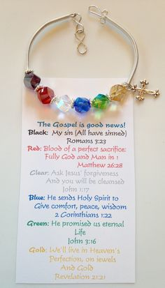 One of my versions of a Salvation Bracelet and card $14.50