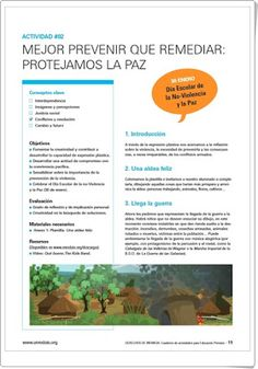 """Propuesta didáctica: """"Protejamos la paz"""" (Unicef) Interactive Activities, Educational Activities, Proposal, I Will Protect You, January, Learning"""