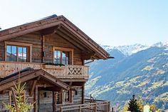 Ausblick des Hüttendorfes Sporer Alm in Tirol
