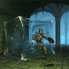Cubo Gelatinoso Best pic of a gelatinous cube I have seen in a while - The 10 Most Memorable Dungeons & Dragons Monsters High Fantasy, Fantasy Rpg, Medieval Fantasy, Fantasy Artwork, Dcc Rpg, Gelatinous Cube, Dungeons And Dragons Art, Myths & Monsters, Pathfinder Rpg
