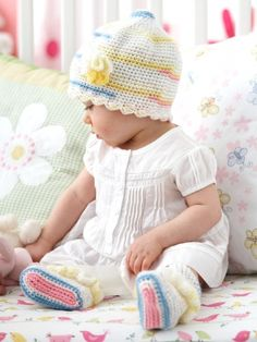 Frilly Top and Tootsies | Yarn | Free Knitting Patterns | Crochet Patterns | Yarnspirations