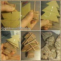 Stromček Hobbies And Crafts, Diy And Crafts, Paper Crafts, Christmas Diy, Christmas Decorations, Xmas, Newspaper Basket, Paper Weaving, Primitive Crafts