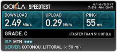 Jetez un oeil sur mon résultat Speedtest! Quelle est la vitesse de votre Internet ?