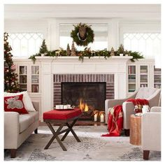 Traditional Red & Green Holiday Decorating Ideas
