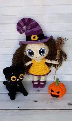 Crochet Toys Patterns, Amigurumi Patterns, Stuffed Toys Patterns, Crochet Dolls, Crochet Hats, Double Crochet, Single Crochet, Halloween Crochet, Handmade Toys