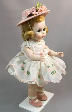 NMIB DRESSED BLONDE BKW in RARE 1957 DRESS + HAT, SHOES - Madame Alexander-kins in Dolls & Bears, Dolls, By Brand, Company, Character, Madame Alexander, Vintage (Pre-1973), 1948-59 | eBay