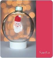 Thumbprint Santa ornament
