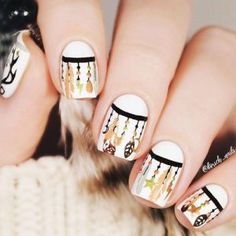 A dream catcher is not only a nice-looking nail art but also a potent protective symbol. If you want both to spice your nails with a stylish manicure Cute Nail Art, Cute Nails, Pretty Nails, Autumn Nails, Winter Nails, Winter Nail Designs, Nail Art Designs, Pink Nails, Gel Nails