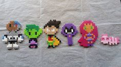 This fusion bead toy set contains 6 pieces: -Cyborg -Beast Boy -Robin -Raven…