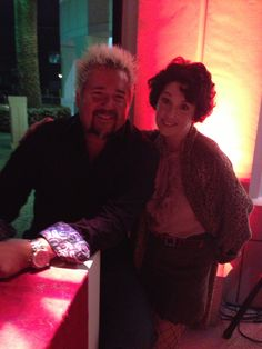 Ginger with Guy Fieri.