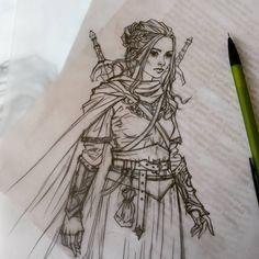 Character design for new project  #liigaklavina #swordofdarkness #artist #illustration #design #pencildrawing #sketch
