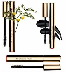 Clarins Supra Volume Mascara  Its double formula contains Mimosa flowers and carnauba wax essence which gives lashes and immediate impact volume. Women who already tested this mascara have reported a 17,6% increase in lash volume after 4 weeks or daily use. only one shade available, 01 Black which offers a rich and intense pigmentation, creating a saturated color effect which makes lashes appear thicker. This mascara will be available in June  #makeupnews #cosmetics #cosmeticsnews #clarins…