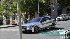 Mercedes-AMG C63 S Edition 1 mạ crôm bóng loáng dạo phố