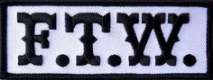 SONS OF OUTLAW  F.T.W BIKER ANARCHY GANG  4 INCH IRON ON FTW PATCH