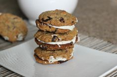 The oatmeal chocolate chip cookie just got better... sandwiched together with marshmallow icing!