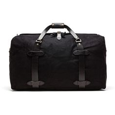 Filson The Black Collection Medium Twill Duffle Bag