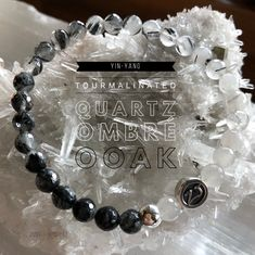 In need of balance? Give Tourmalinated Quartz a try! This is a grounding & strengthening stone which can aid in eliminating patterns, which are, or may have been destructive in ones own life. It balances yin yang energy & aids in adjusting imbalances throughout the body. Wear this gem to protect you against negativity & from being victimized by the negative energies of others. An effective problem solver. Ombré jewelry | Healing crystal jewelry | ZenJen | zen jewelz