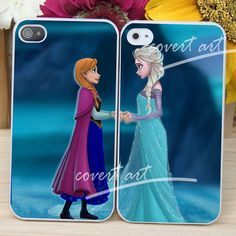 disney elsa and anna frozen couple 2  for iPhone 4 / by CovertArtz, $30.00