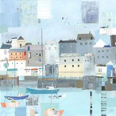 Padstow Harbour (W384) Coastal Greetings Card by Liz and Kate Pope