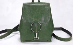 Green Toys und Classic Brettspiele Deal des Tages - New Ideas Green Backpacks, Vintage Backpacks, Vintage Leather Backpack, Lightweight Backpack, Backpack Purse, Lambskin Leather, Leather Purses, Fashion Bags, Bag Accessories