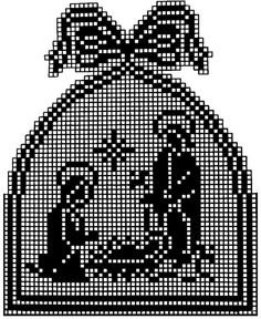 But you can crossstitch it as well Xmas Cross Stitch, Cross Stitching, Cross Stitch Embroidery, Cross Stitch Patterns, Crochet Patterns, Embroidery Patterns, Hand Embroidery, Crochet Christmas Ornaments, Holiday Crochet