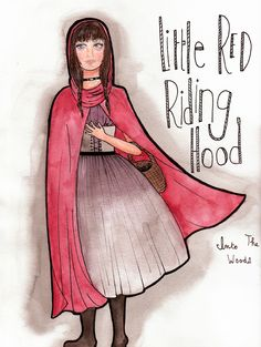 Little Red Riding Hood sketch by Marianne Jetté for the musical Into The Woods