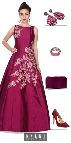 Dazzle in style on your BFF's engagement dressed in this embroidery gown, sport the right accessories and you are set you go!