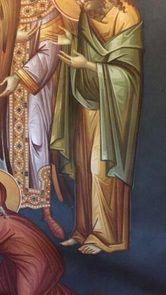 Byzantine Icons, Byzantine Art, Icon Clothing, Paint Icon, Painted Clothes, Orthodox Icons, Art Techniques, Scene, Drawings