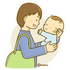 家族の無料素材・赤ちゃん