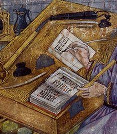 Chroniques de Hainault (BNF Fr. 20128, fol. 1), c. 1450-1475  Detail