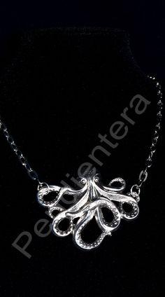 Colgante Octopus plateado