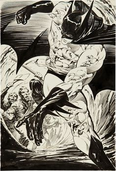 Batman: The Cult promo art by Wrightson