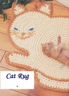 Cat Rug Crochet Pattern I ADORE this .. and know a little girl who would too !!!  Must see if there's a pattern .. or invent one !
