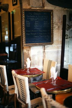 French cafe in le Marais, Paris, France