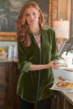 Silk Velvet Saturday Shirt - Velvet Shirts For Women, Tops, Clothing | Soft Surroundings