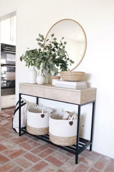 Our console table is in stock and off today using code FREEDOM (linked in bio).🎊 Did a little summer styling around the house this… 41 Entry Table Ideas to Liven up Your House in Details RH console table Decor, Home Decor Inspiration, Interior, Entryway Decor, Home Decor, House Interior, Apartment Decor, Interior Design, Home And Living