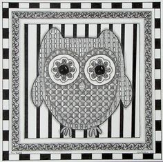 Black And White Owl Blank Note Card By TinkerTangles On Etsy