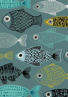 Blue Fish limited edition giclee print by EloiseRenouf on Etsy, $25.00