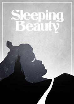 Disney's Sleeping Beauty Minimalist Poster.