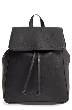 Free shipping and returns on Sole Society 'Iver' Faux Leather Drawstring Backpack at Nordstrom.com. An around-town (or around-campus) backpack in pebbled faux leather looks chic and right on trend, and the lightly structured silhouette and flat base add stability, making it easy to find belongings inside when you set it down.