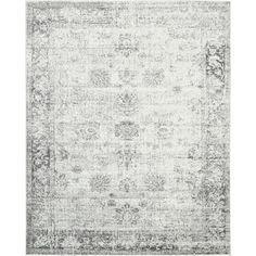 Sofia Grey Floral Area Rug (8'x10')