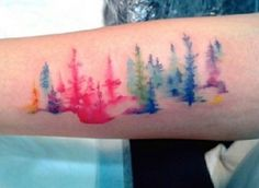 Watercolor tattoos are tattoos that are designed to resemble a watercolor painting. Soft but bright colors are used and blurred, blended, faded, and shaded to mimic this painting style. Paint splatters and drips are also sometimes part of a watercolor tattoo. Unlike traditional tattoos, watercolor tattoos typically don't include black outlines. If a black outline is …
