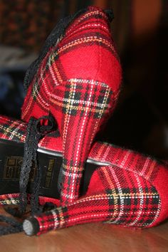 tartan shoes 2 by FromHerIsMeReborn.deviantart.com on @deviantART