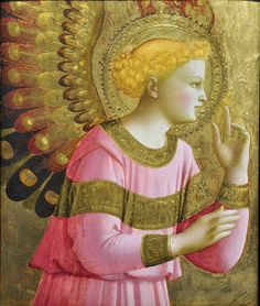 """The Annunciatory Angel"", 1450-5 ~ Fra Giovanni da Fiesole (1395-1455)"