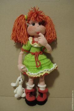 Купить кукла Серпантинка - кукла, игрушка, вязаная кукла, озорная кукла, озорница, авторская кукла