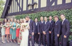 Wedding party at Old Mill Toronto | Vintage Wedding Photography | www.newvintagemedia.ca
