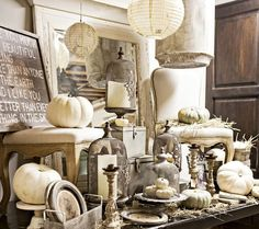 """This is obviously a Fall-themed display, but important to show the high impact of a """"one-color presentation!"""" It's so much more powerful to have merchandise of one color grouped all together, rather than scattered around ... a piece here, a piece there. This is great!"""